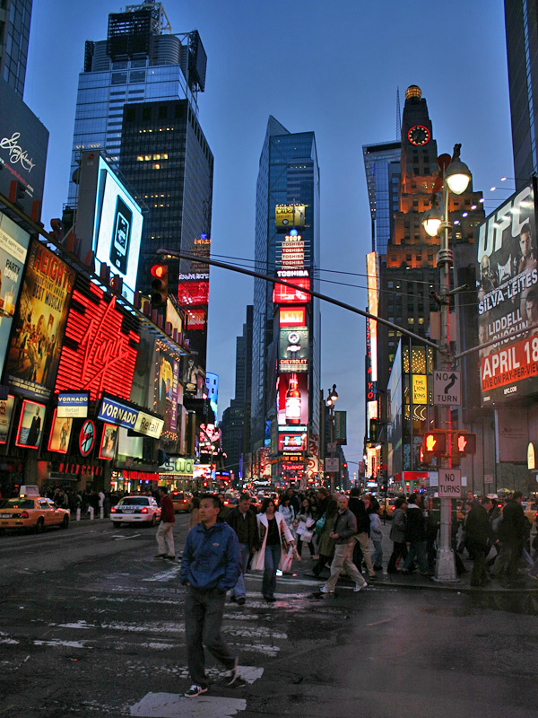 The Night Is Young On Times Square New York Anto