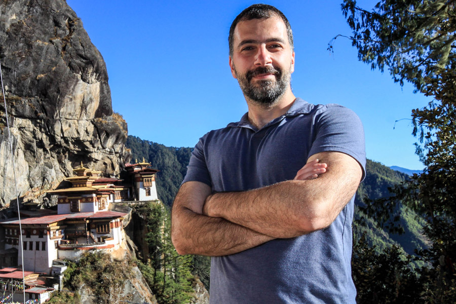 Tiger's nest and me, Paro, Bhutan
