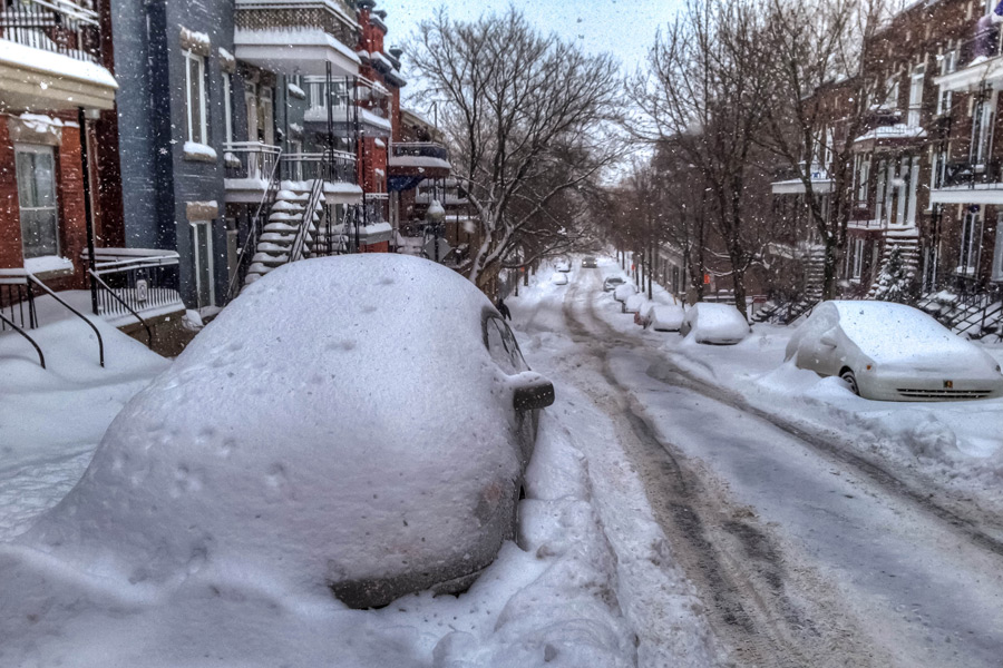 Winter storm in Montréal, Canada